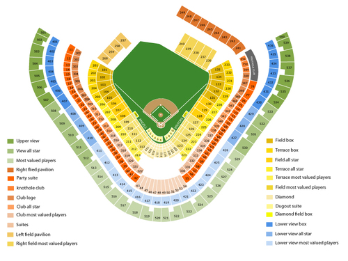 Toronto Blue Jays at Los Angeles Angels Venue Map