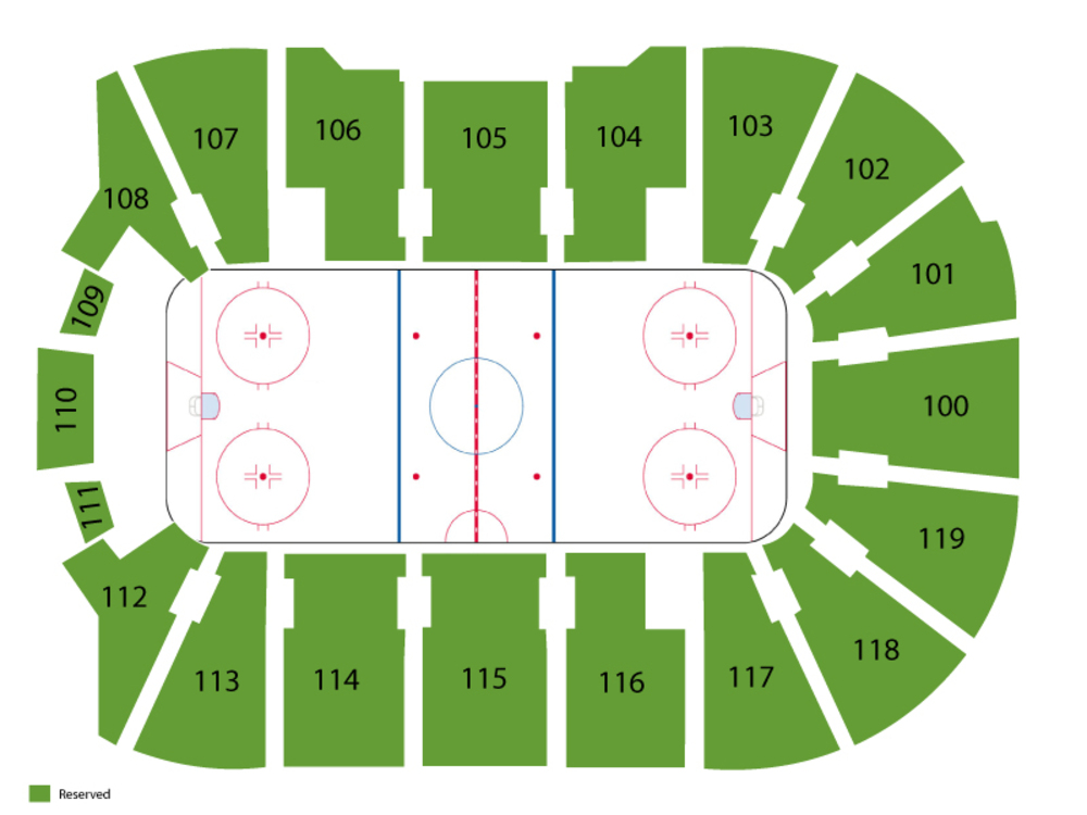 Charlotte Checkers at Bridgeport Sound Tigers Venue Map