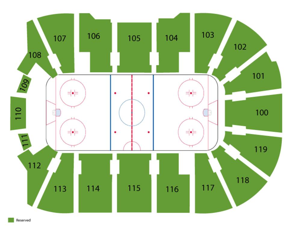 Preseason: New York Islanders at New York Rangers Venue Map
