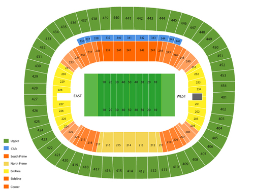 Edmonton Eskimos at BC Lions Venue Map