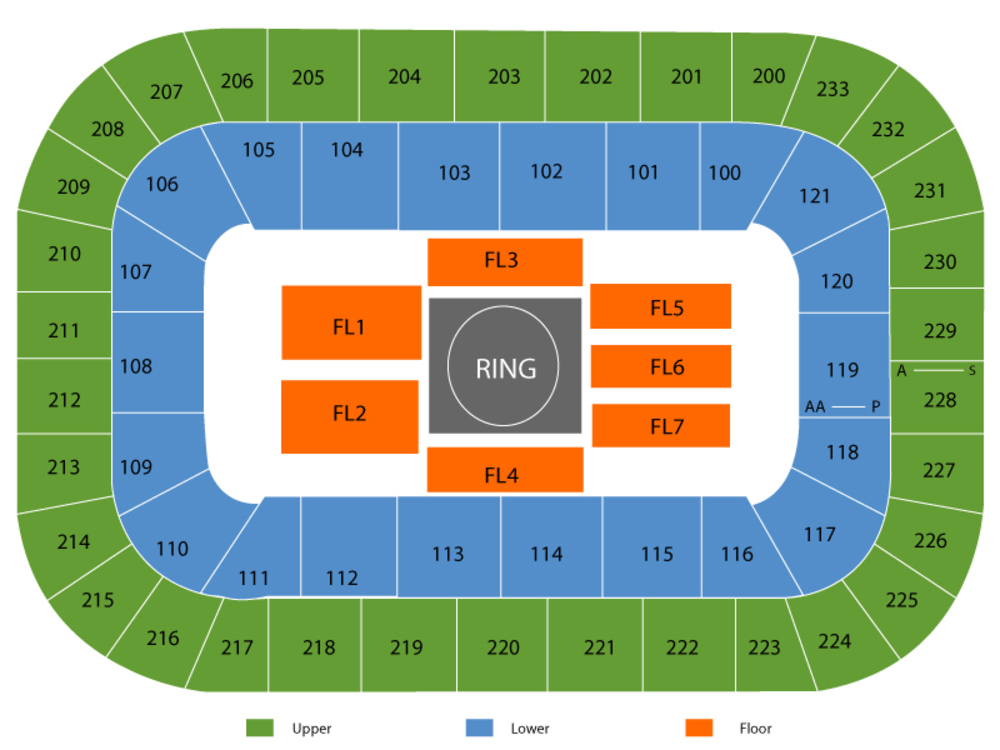 WWE Raw Venue Map