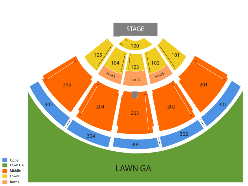 Ozzy Osbourne with Megadeath (Rescheduled from 7/25/19) Venue Map