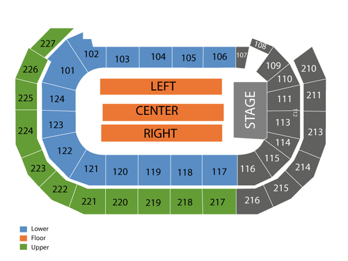 AMSOIL Arena Seating Chart