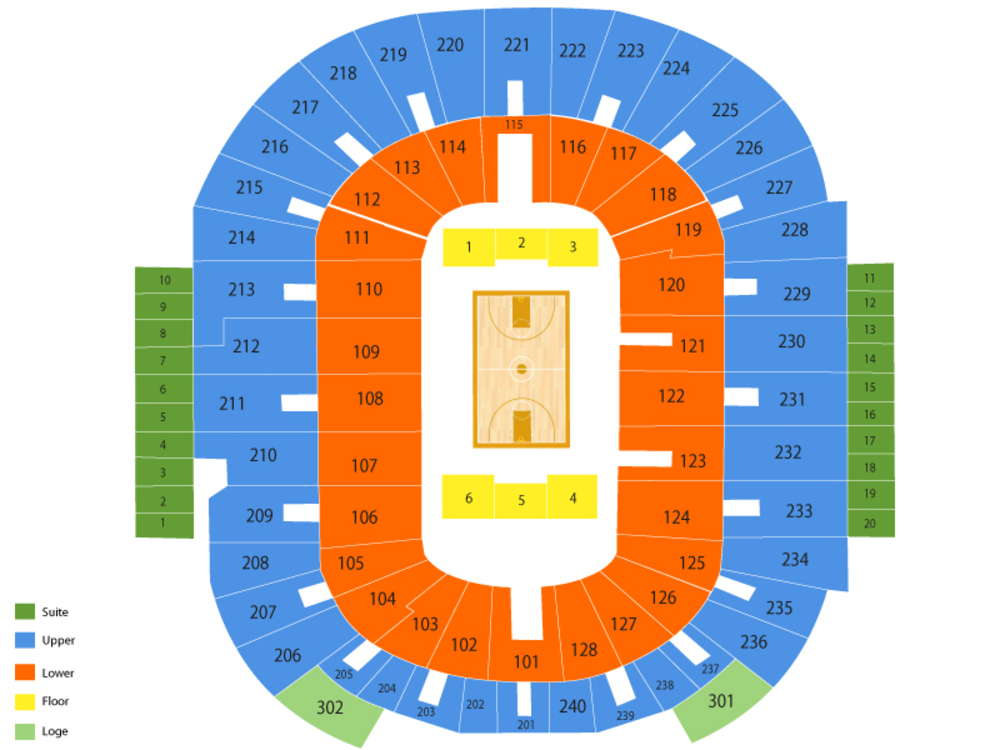 Minnesota Golden Gophers at Providence Friars Basketball Venue Map