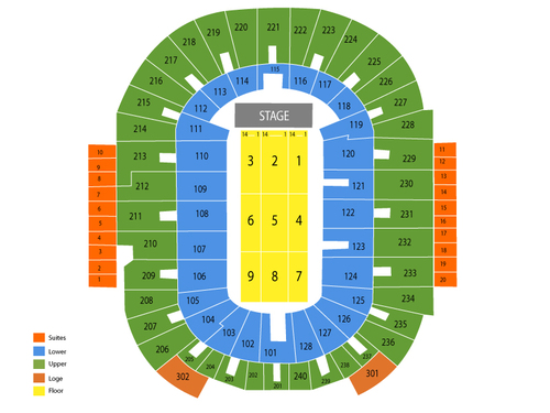 Dunkin Donuts Center Seating Chart