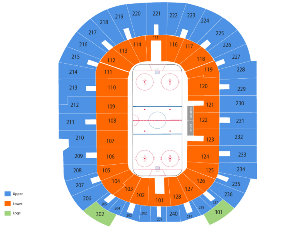 Bridgeport Sound Tigers at Providence Bruins Venue Map