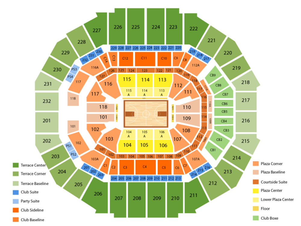 NBA Western Conference Semifinals: TBD at Memphis Grizzlies - Home Game 1 (Date TBD - If Necessary) Venue Map