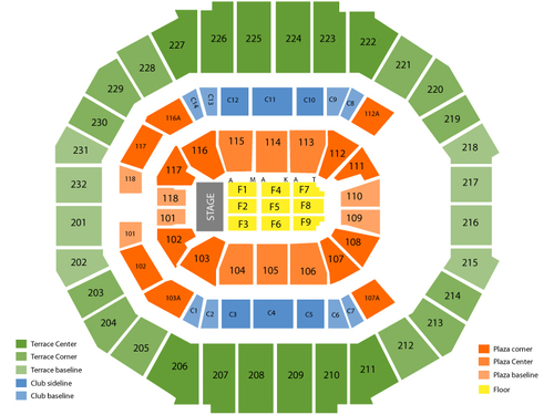 FedExForum Seating Chart