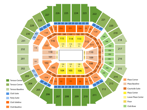 Fedex forum seating chart events in memphis tn