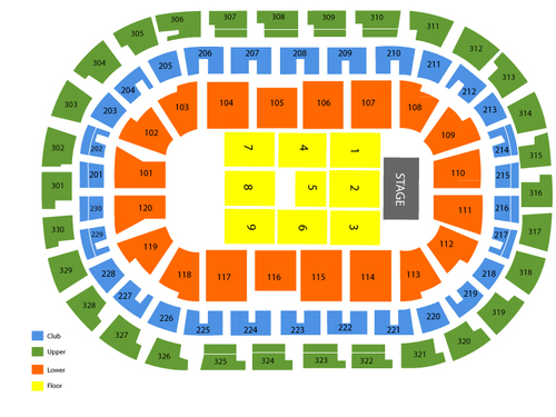 Chesapeake Energy Arena Seating Chart