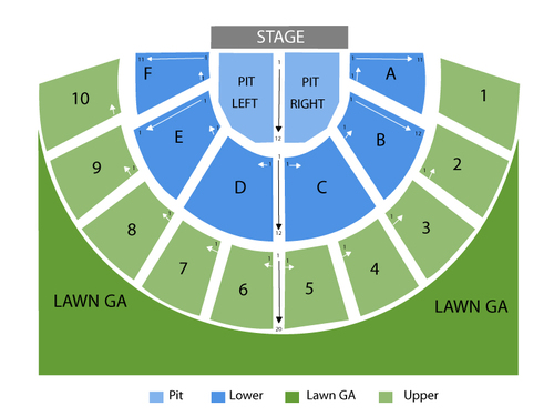 Greek Theatre - Berkeley Seating Chart
