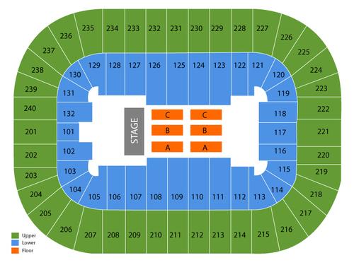AMSOIL Arenacross Venue Map