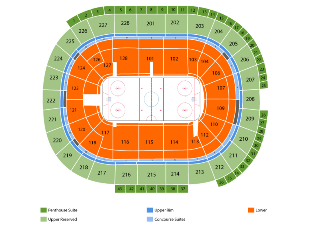 Vegas Golden Knights at San Jose Sharks Venue Map