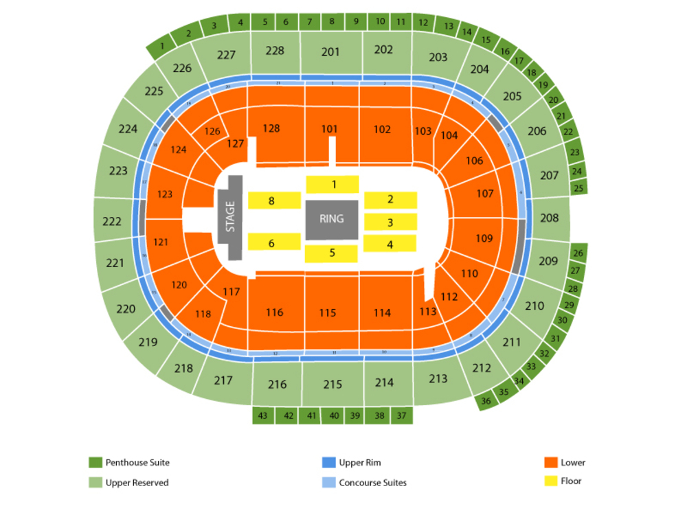WWE Extreme Rules Venue Map