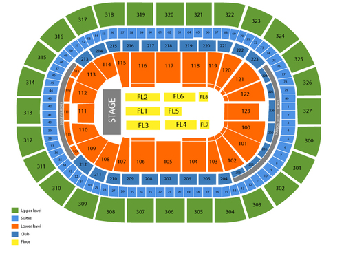 HSBC Arena Seating Chart
