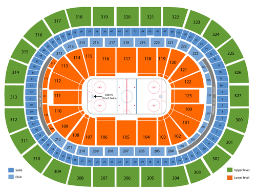 San Jose Sharks at Buffalo Sabres Venue Map