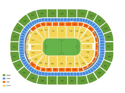 NLL Finals: Calgary Roughnecks at Buffalo Bandits (Home Game 2) (If Necessary) Venue Map