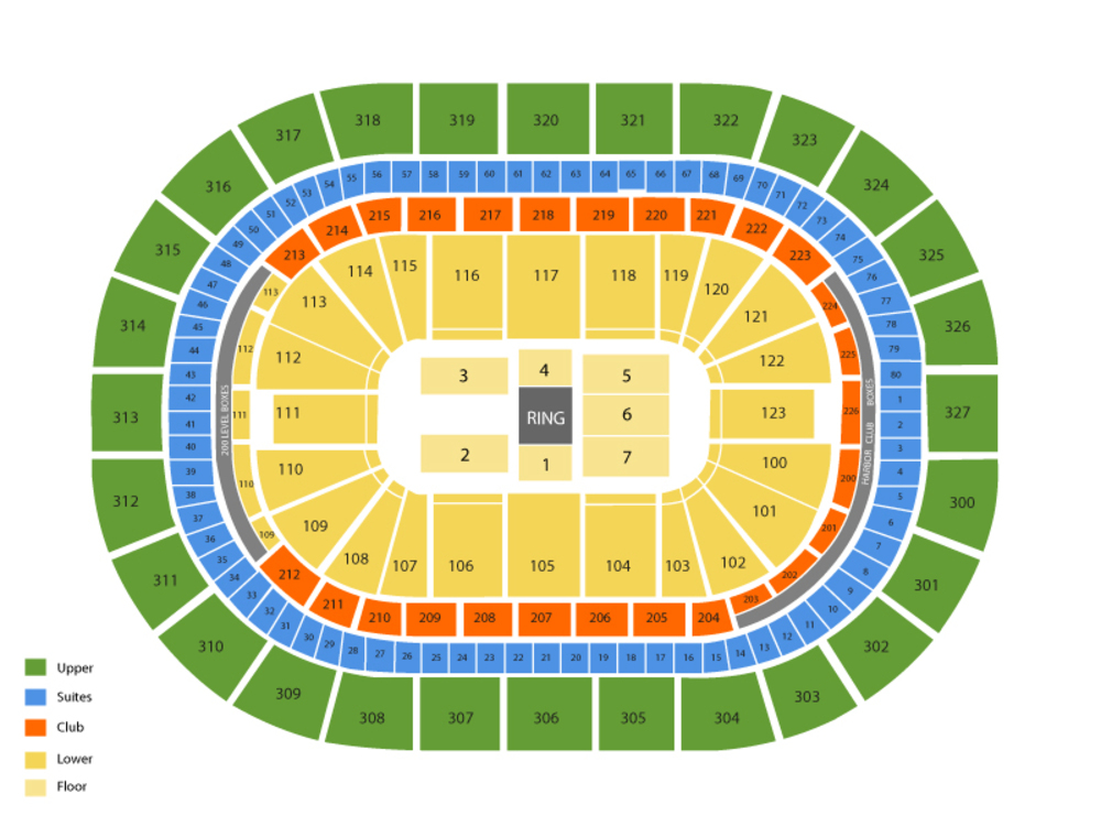 WWE Live Road To Wrestlemania Venue Map