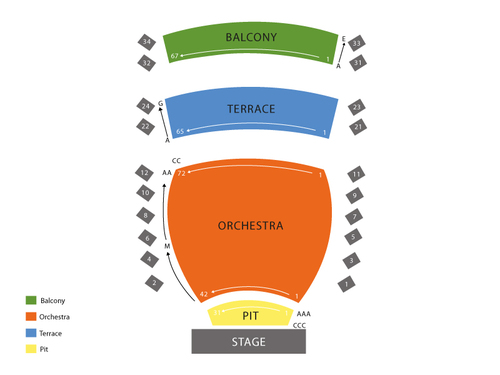 INB Performing Arts Center Seating Chart