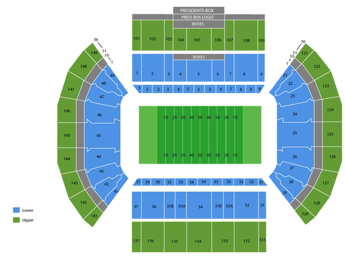 Texas Longhorns at BYU Cougars Football Venue Map