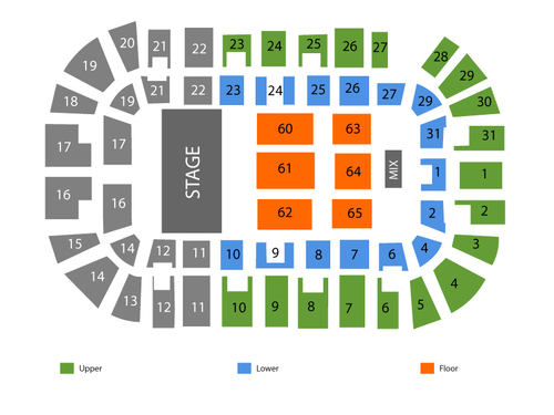 MassMutual Center Seating Chart