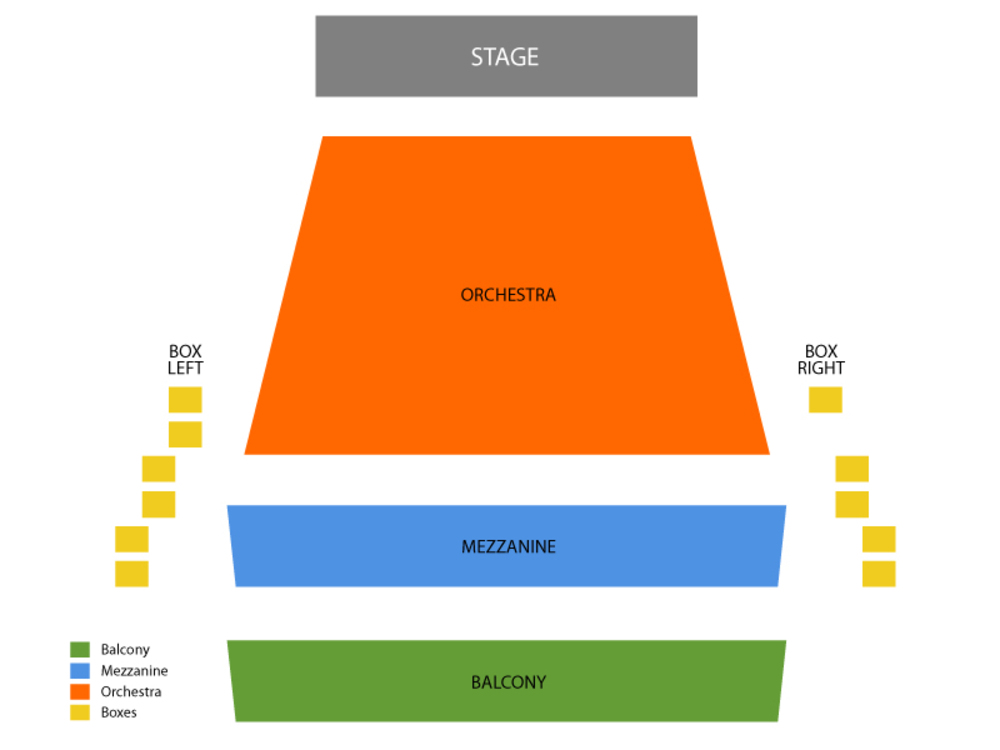 McCallum Theatre seating map and tickets