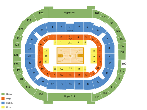 McKale Center Seating Chart
