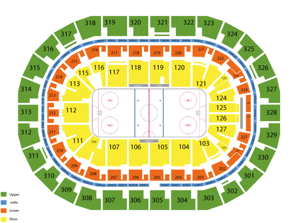 Washington Capitals at Winnipeg Jets Venue Map