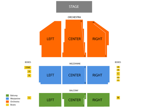 National Theatre Seating Chart