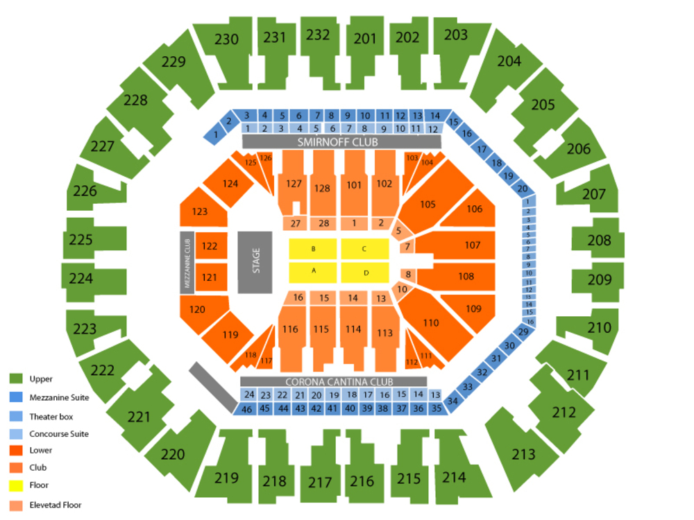 J. Cole Venue Map