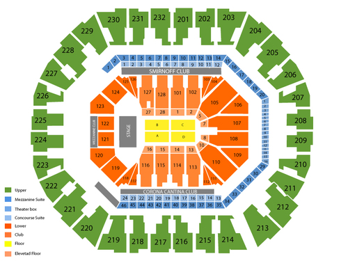 Celine Dion Venue Map