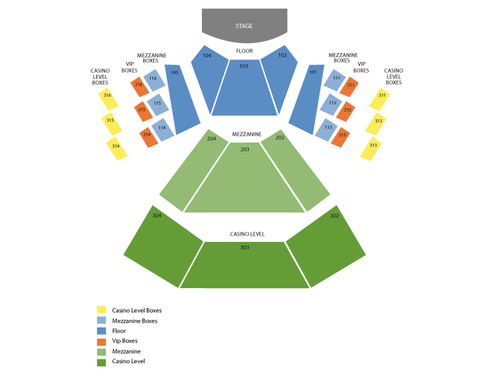 Pearl Concert Theater at Palms Casino Resort Seating Chart
