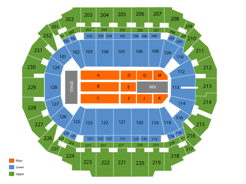 CenturyLink Center - Omaha Seating Chart