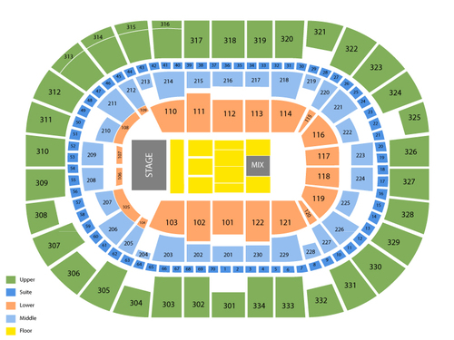 Moda Center Seating Chart