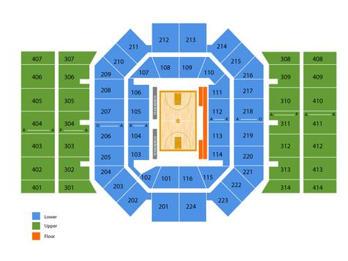 University of Dayton Arena Seating Chart
