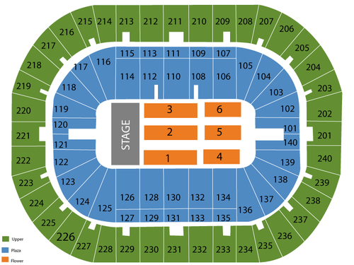 U.S. Bank Arena Seating Chart