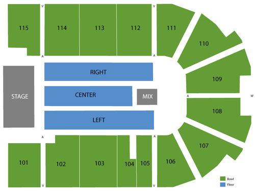 US Cellular Coliseum Seating Chart