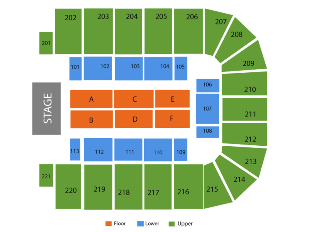 BancorpSouth Arena seating map and tickets