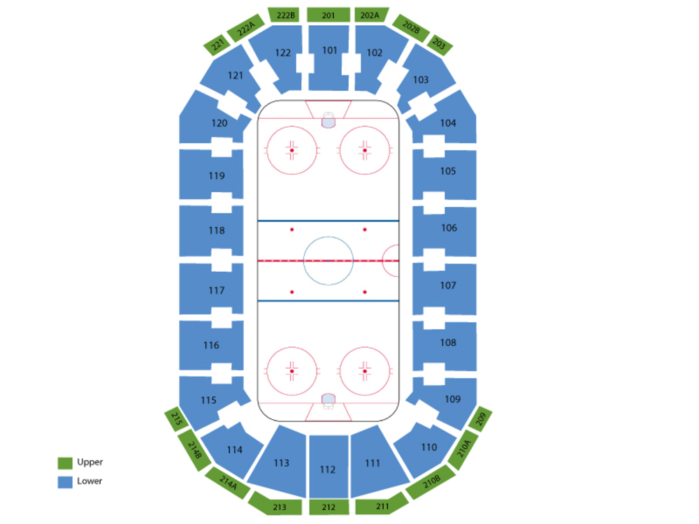 Milwaukee Admirals at Texas Stars Venue Map