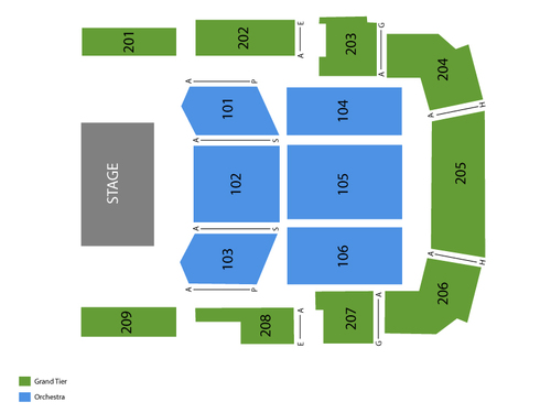 Bayou Music Center Seating Chart