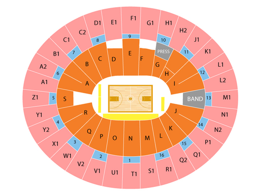Wells Fargo Arena - Tempe Seating Chart