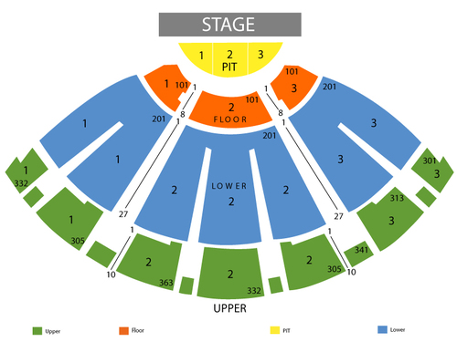 Wells Fargo Theatre Seating Chart