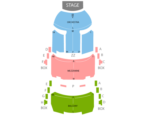 Ahmanson Theater Seating Chart