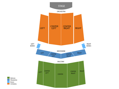 Wilco (Rescheduled from 04/01/2020) Venue Map