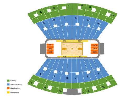 Assembly Hall - IN Seating Chart