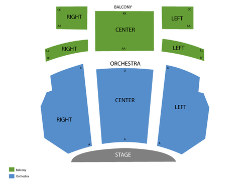 Bardavon Opera House Seating Chart
