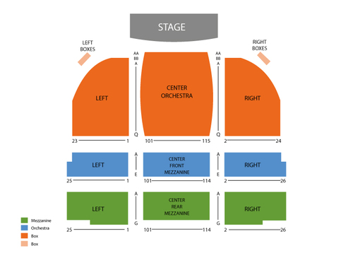 Barrymore Theatre - NY Seating Chart