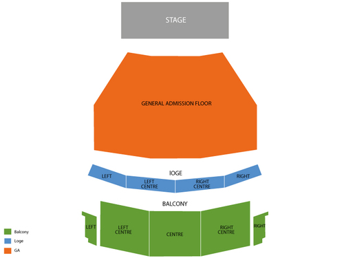 Billy Idol Venue Map