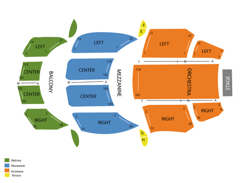 Colonial Theater Seating Chart