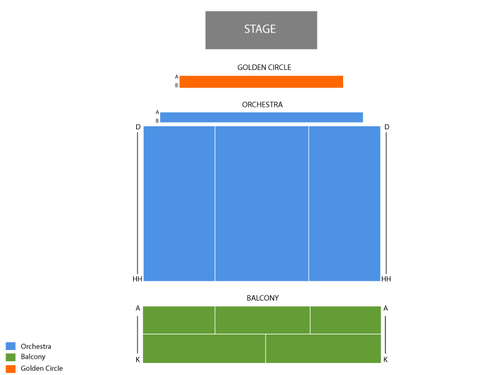 The Community Theatre at Mayo Center of the Performing Arts Seating Chart
